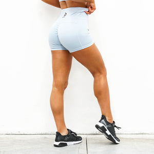 Derrimut 24:7 - Ladies Premium Scrunch Booty Shorts - Blue