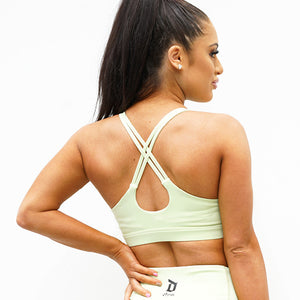 Derrimut 24: 7 Gym Ladies Premium Crop Top - Lime