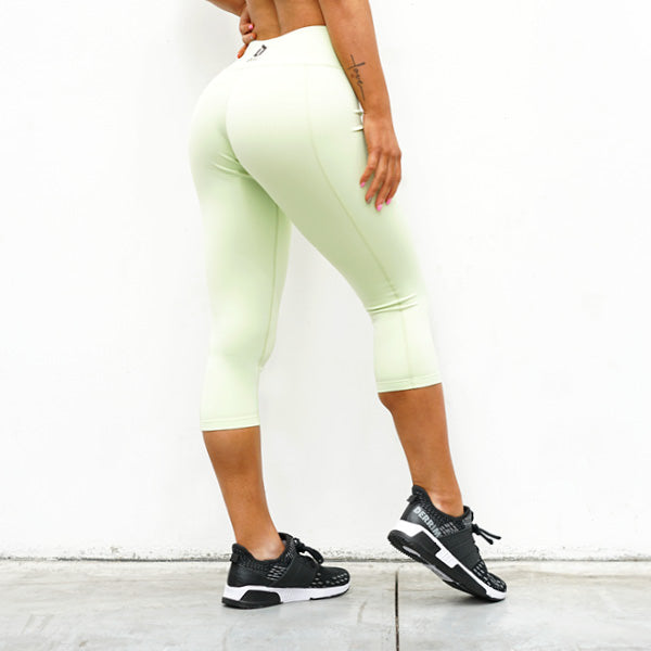 Derrimut 24:7 Gym Ladies Premium '7/8' Leggings - Lime