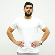 Load image into Gallery viewer, Derrimut 24:7 Gym Men's Mesh Strip Tee - White