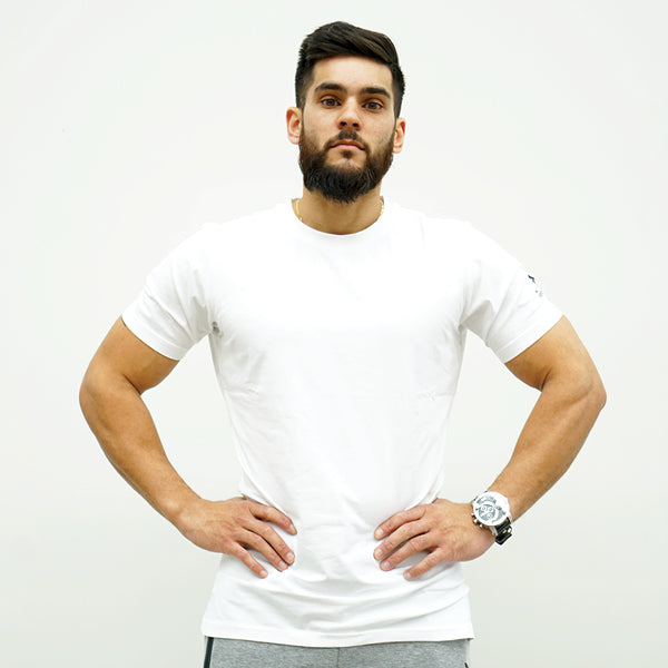 Derrimut 24:7 Gym Men's Mesh Strip Tee - White