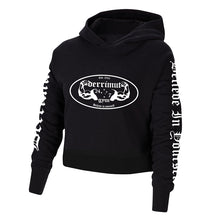 Load image into Gallery viewer, Derrimut 24:7 Crop Vintage Hoodie - Black
