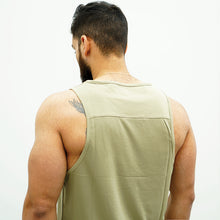 Load image into Gallery viewer, Derrimut 24:7 Gym Men's Sport Muscle Tank -  Khaki