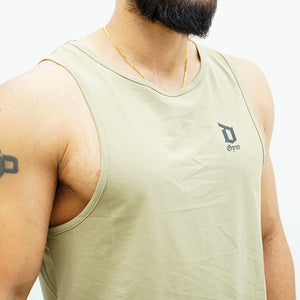 Derrimut 24:7 Gym Men's Sport Muscle Tank -  Khaki