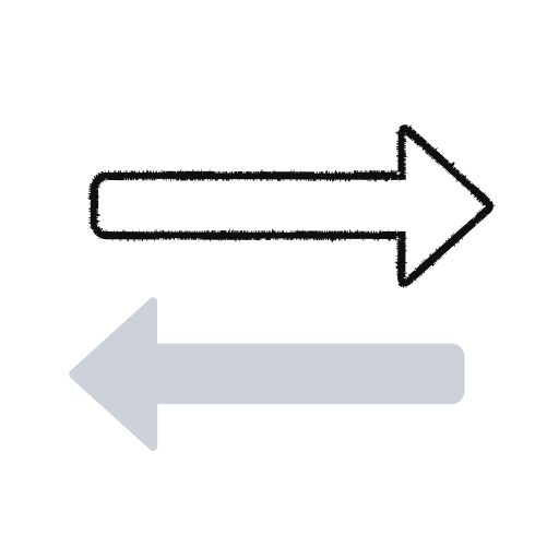 Alternating arrows