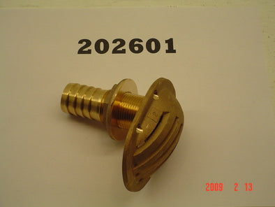 "SCOOP STRAINER-1""INTAKE '07-09 BRASS W/HOSE BARBS"