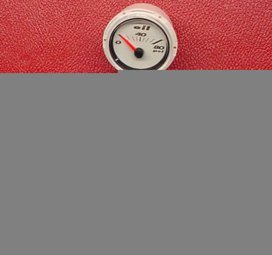 GAUGE-OIL WHITE 2006 200/210/230/245/280STS SALT WATER SERIES