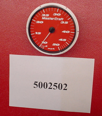 "GAUGE-SPEEDO RED 5"" X2/X10/X30/X45 '06 50-MPH"