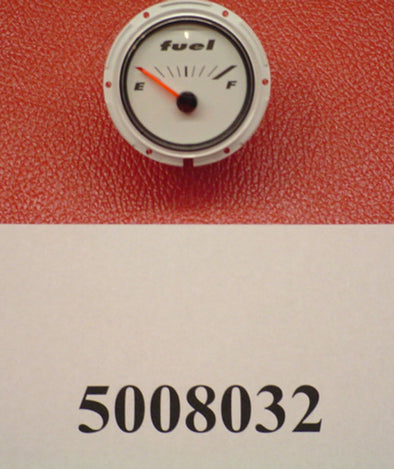 "GAUGE-FUEL 2"" WHITE '08 190/197/X7"