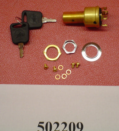 SWITCH-IGNITION W/KEY BRASS ALL '00-'12