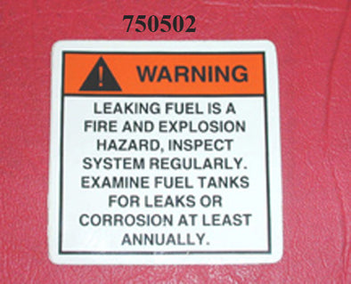 LABEL-LEAKING FUEL '11-'14