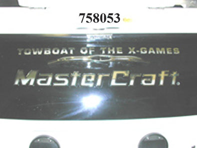 DECAL-TOW BOAT X-GAMES TRANSOM FLEXCON CHROME DRIP MOLD XSTAR '01-'10