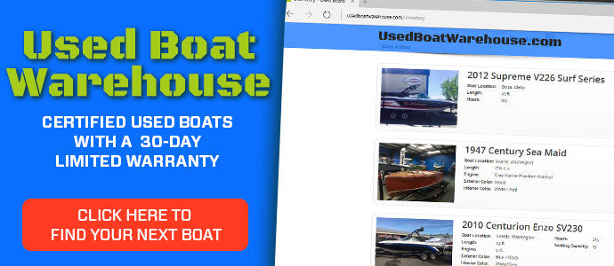 View our large selection of used boats.