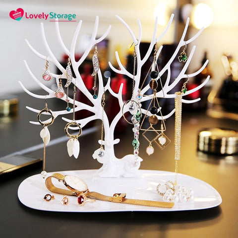 ELEGANT-TREE Jewellery Holder how to store necklaces ring tray