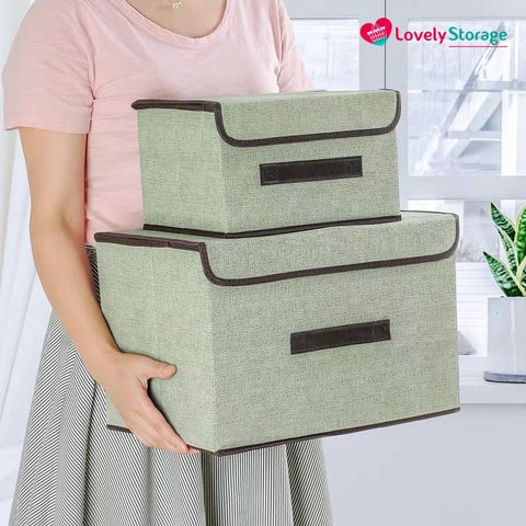 MULTI-ORGANISER Storage Boxes fabric storage boxes with lids space-saving clothes storage bags diy storage box book storage box - Lovely Storage