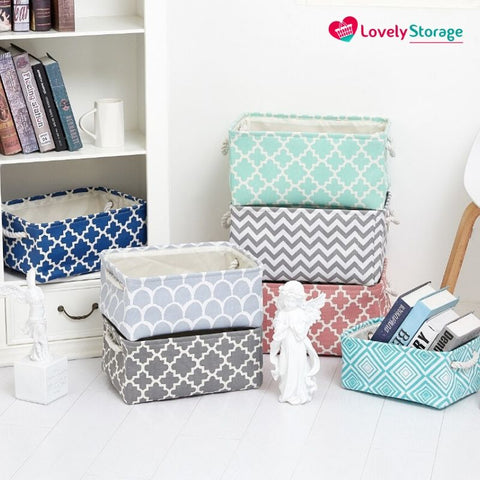 SPACE-SAVER™ Storage Baskets | Pack of 3 space-saving organiser box storage baskets clothes storage bags storage bags storage boxes with lids fabric storage boxes book storage box