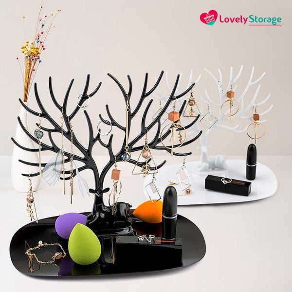 ELEGANT-TREE  Jewellery Holder jewellery organiser diy necklace holder tree jewelry ring tray how to untangle a necklace jewelry display necklace stand - Lovely Storage
