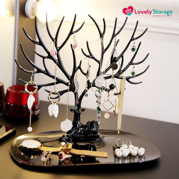 ELEGANT-TREE Jewellery Holder necklace stand jewelry tree stand jewelry display jewellery organiser tree jewelry - Lovely Storage