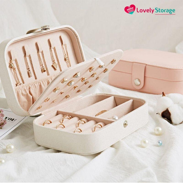 GORGEOUS-BOX Travel Jewellery box jewelry display travel rings jewelry storage ideas jewellery organiser ring tray - Lovely Storage