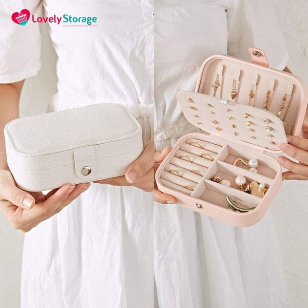 GORGEOUS-BOX Travel Jewellery box jewellery organiser how to store jewelry travel ring box - Lovely Storage