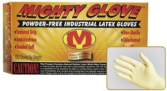 Mighty Glove 8 Mil Heavy Duty Powder Free Latex Gloves, Case