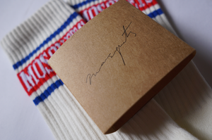 "SOCKS CREAM WHITE ""STRIPE"" - Mosquets"
