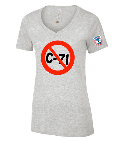 Ladies No to Bill C-71 Tee