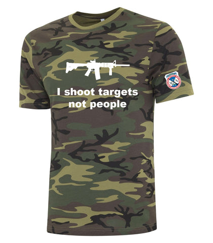 Unisex I Shoot Targets Not People Tee