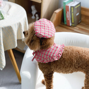 Rosy Check cape / Beret
