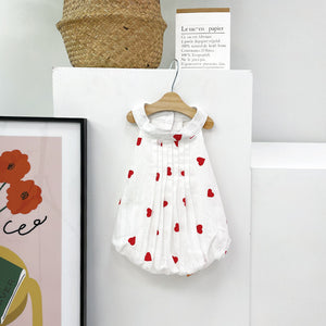 Heart Balloon Pintuck Dress
