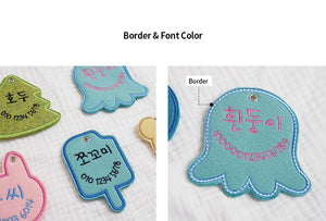 Felt embroidered dog name tag