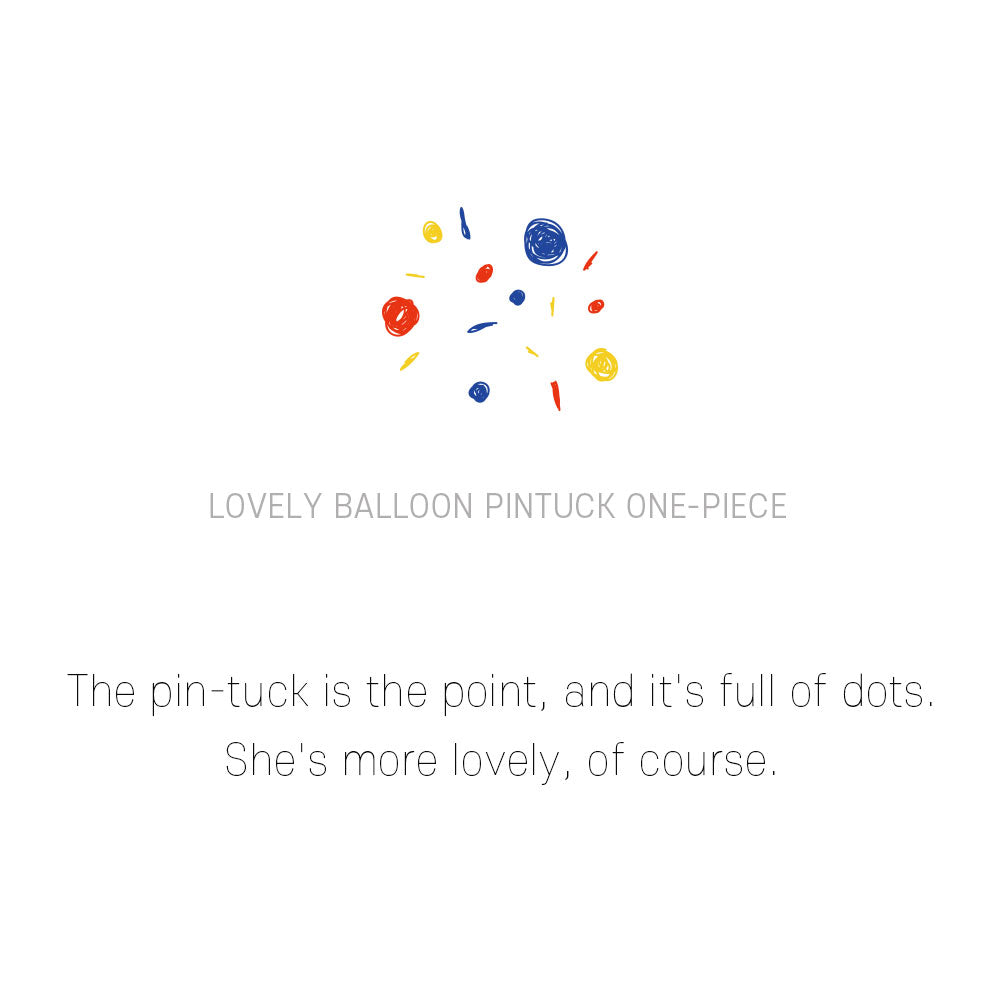 Balloon pin-tuck dress