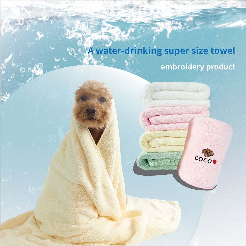 water-drinking super size towel