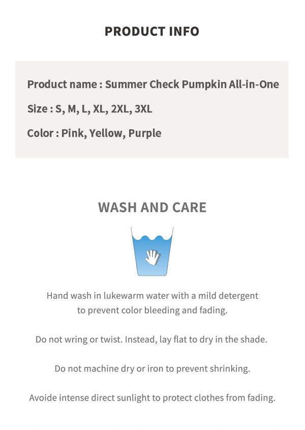 Summer Check Pumpkin All-in-One