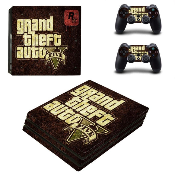 Grand Theft Auto V GTA 5 PS4 Pro Skin Sticker Decal Vinyl for Playstation 4 Console and 2 Controllers PS4 Pro Skin Sticker