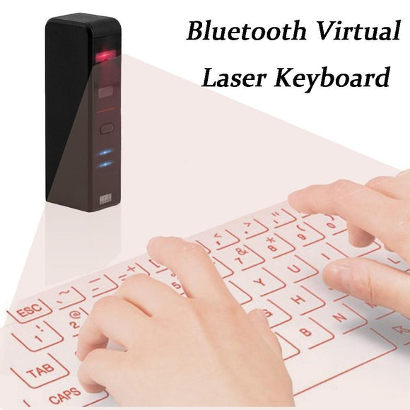 Mini QWERTY KEYBOARD Bluetooth Laser Projection Wireless Virtual Keyboard For  Android and iOS Smart Phone