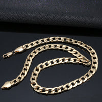 Cuban Link Gold Chain Necklaces Street Fashion Long Chain