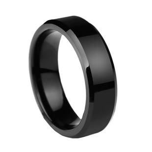 Men's Stainless Steel Unadjustable Rings Black