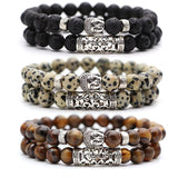 Black Lava Stone Bead Bracelets for Women or Men