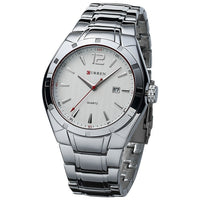 xCurren Men's Luxury Brand Watches - Quartz Hours Date Hand Full Stainless Steel Wrist Watch
