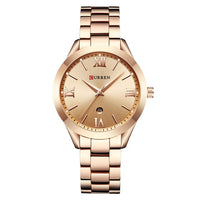 Ladies Quartz Waterproof Watch- Colors: Gold / Rose Gold / Silver