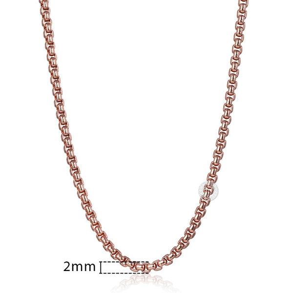Rose Gold Necklace for Women Snail Link Chain Gold Necklace 18 to36 inch