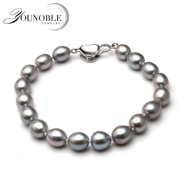 This is a Beautiful Grey Freshwater Natural Pearl Bracelet