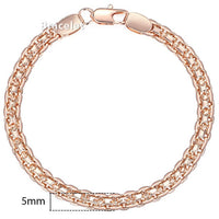 5mm Bracelet for Women Girls Rose Gold