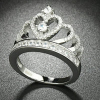Beautiful Pave Setting 925 Sterling Silver Ring