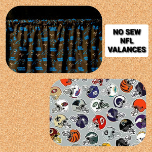 NFL Do It Yourself No Sew Valance Kits