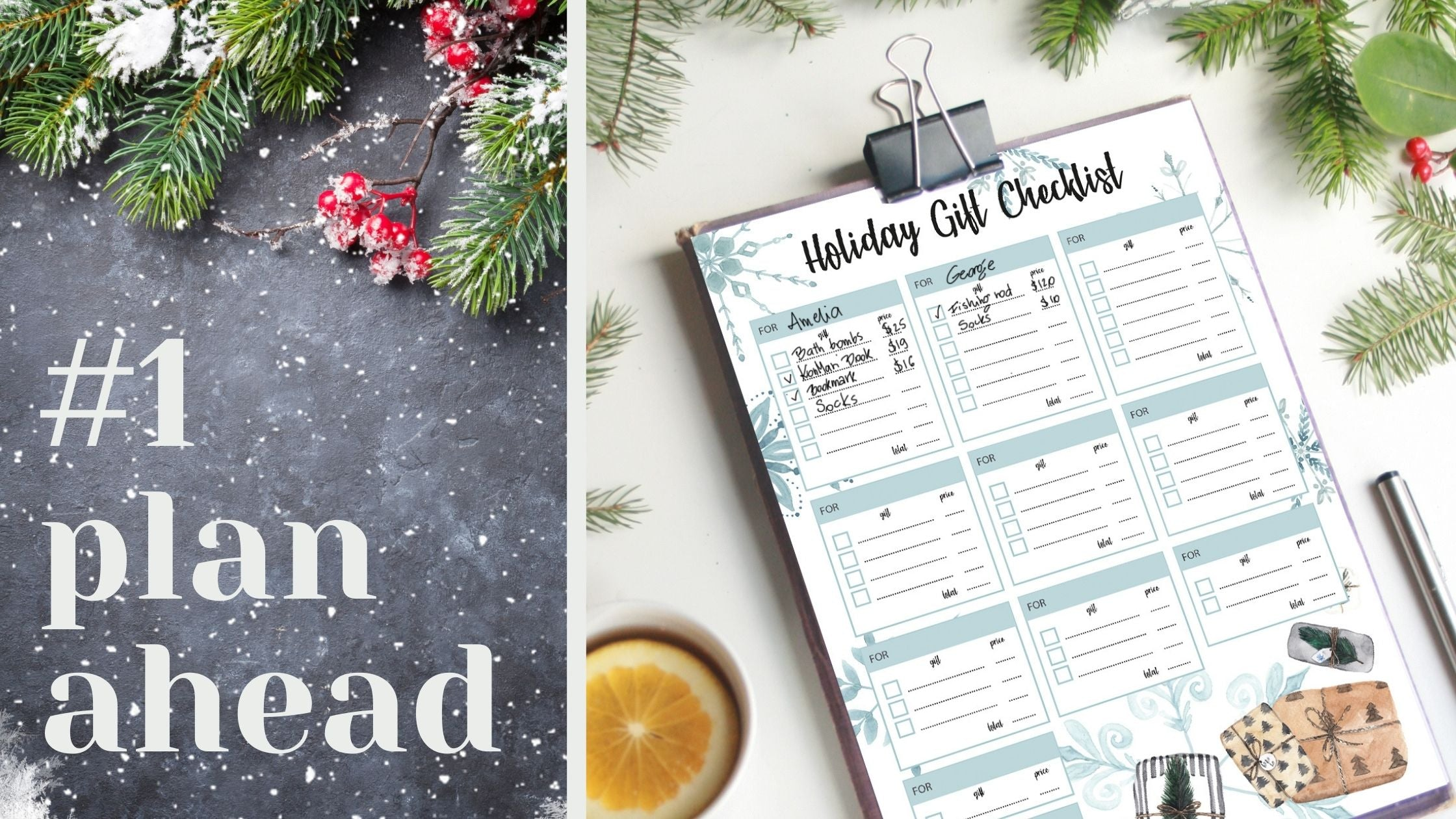 gift tracker list to plan ahead your holiday shopping