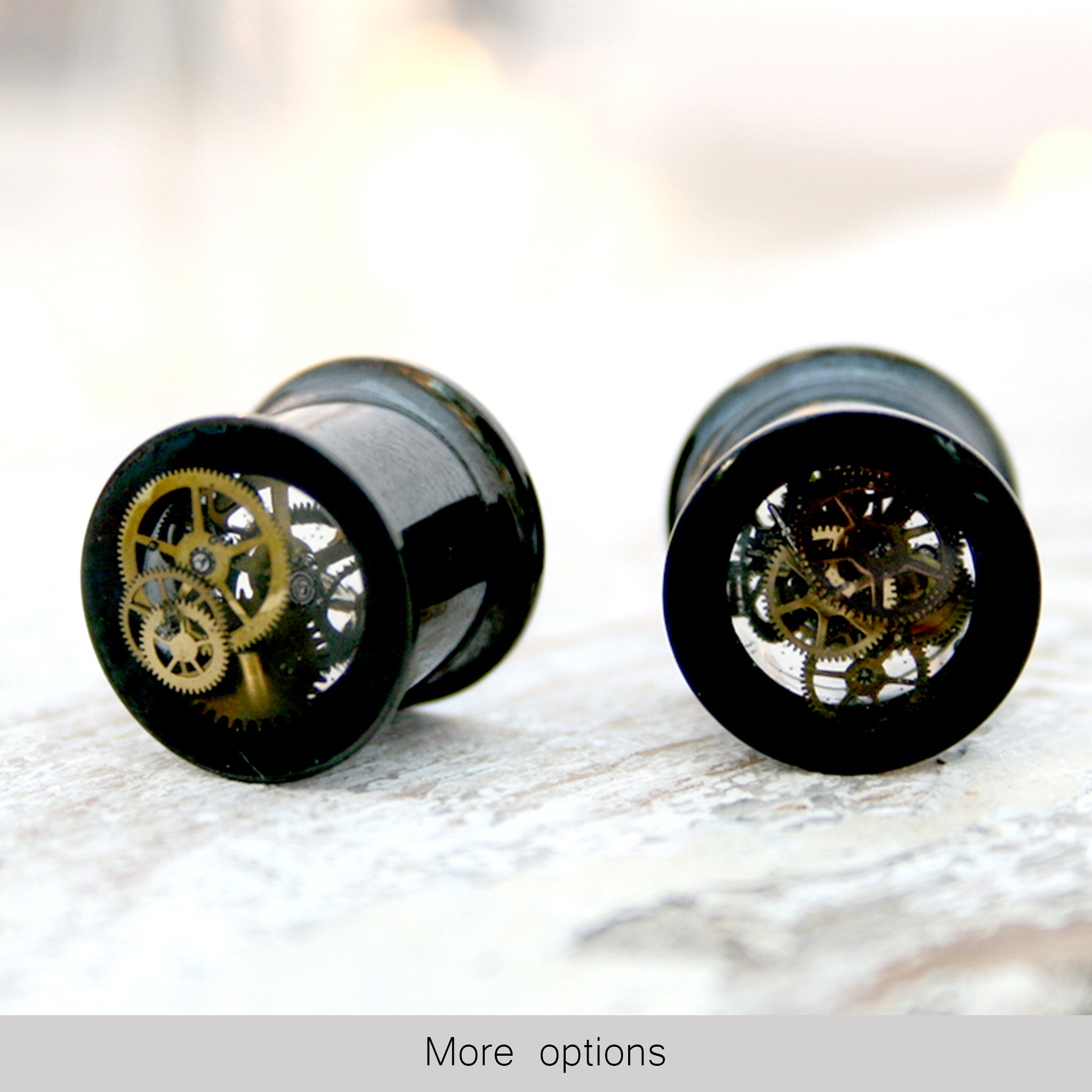 Double flare 10mm steampunk ear gauges