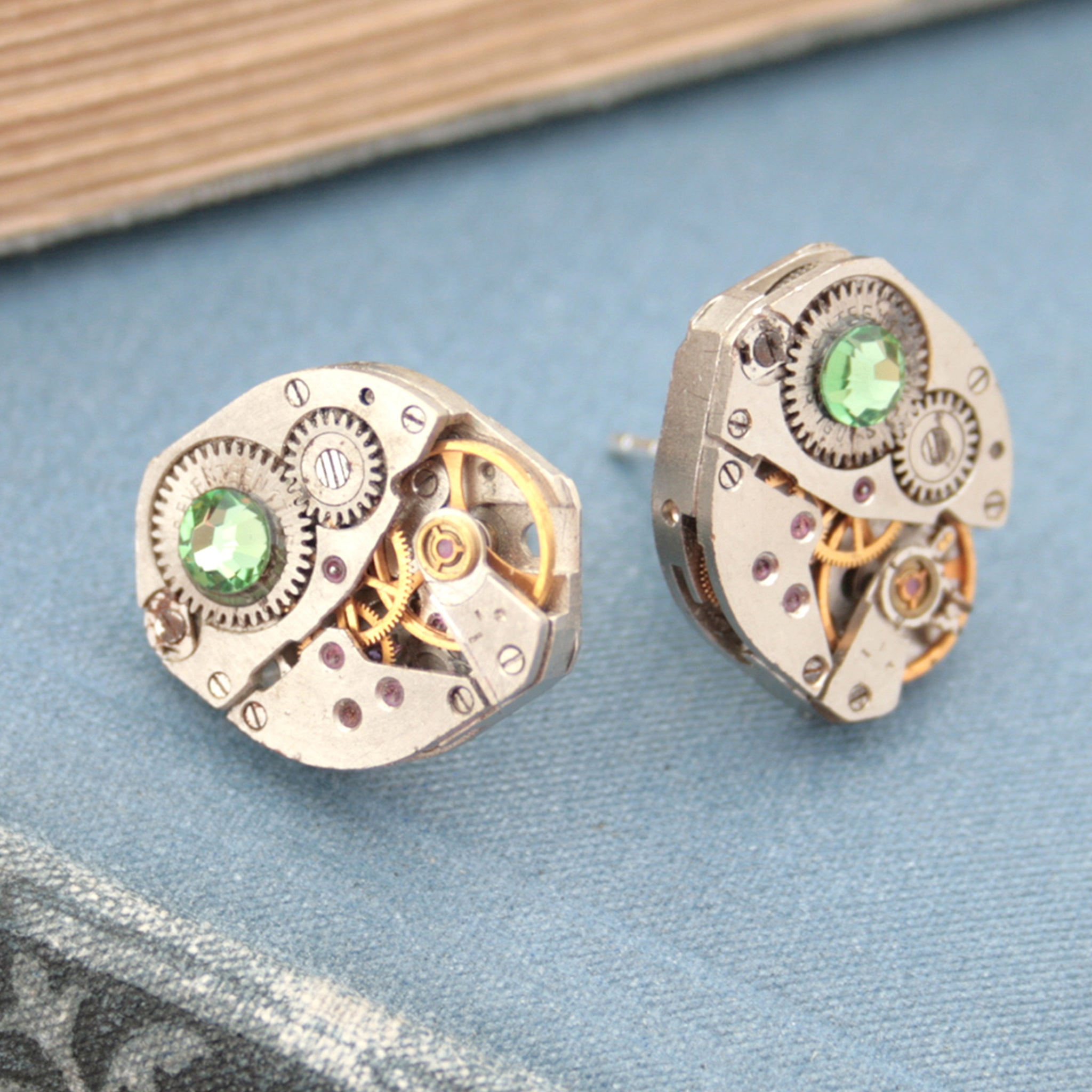 Peridot Birthstone Stud Earrings