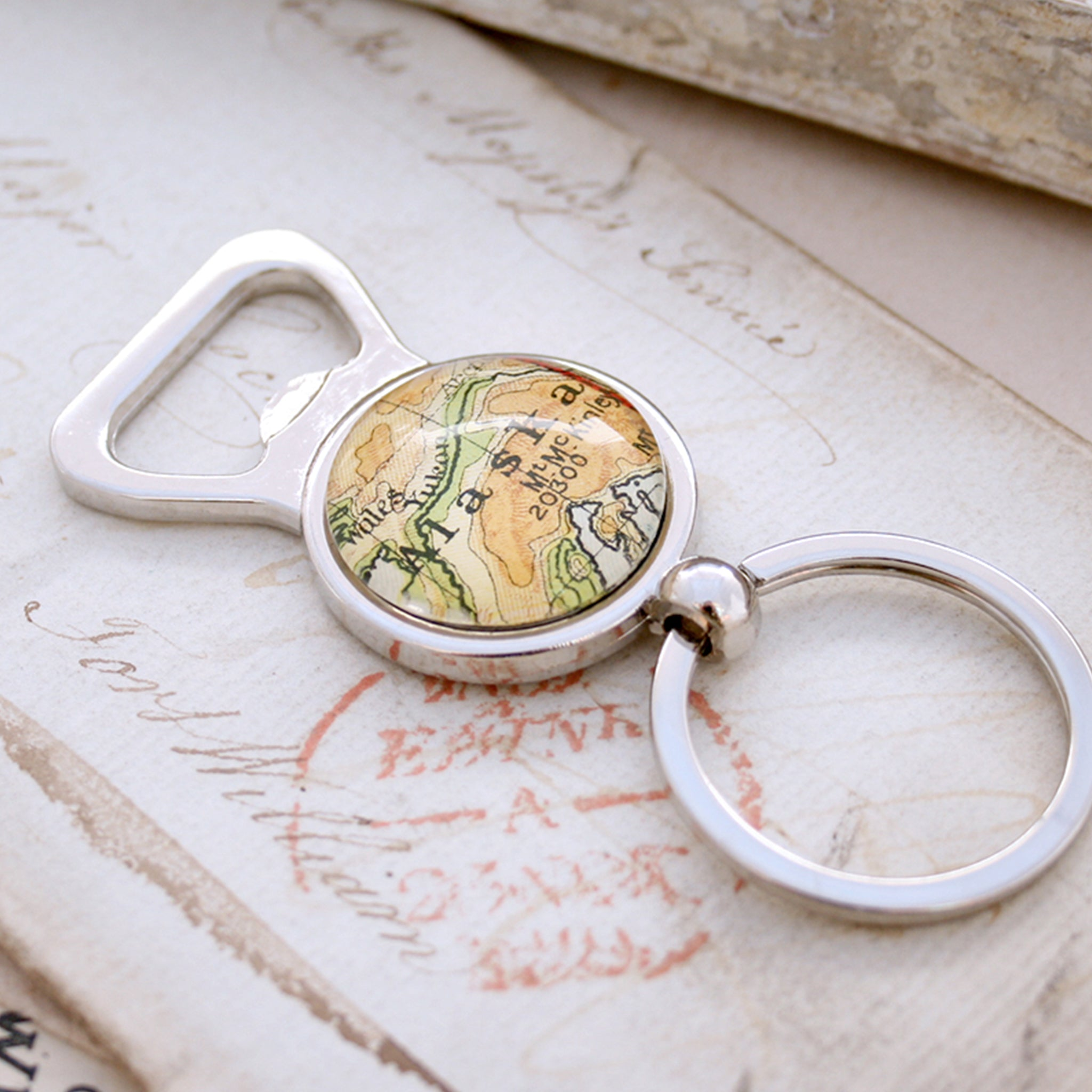 Personalised Bottle Opener with map of Alaska featured